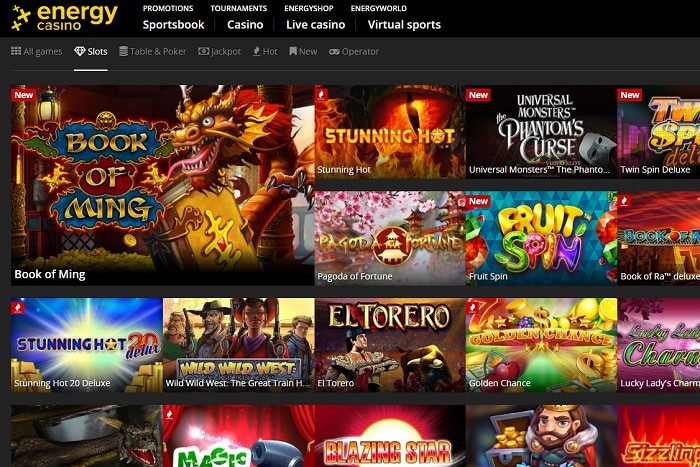 Energy Casino & Energy Bet free spins bonus