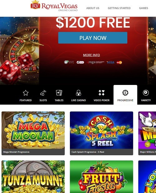 Royal Vegas Casino gratis spins bonus