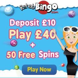 Rehab Bingo Casino 60 free spins NDB and £40 free bonus