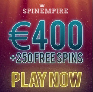 SpinEmpire Casino - 250 free spins and 150% up to €400 exclusive bonus