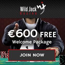 Wild Jack Casino $1600 free play bonus + 100 extra free spins