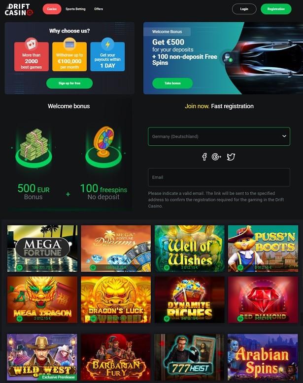 Drift Casino Welcome Bonus Review
