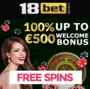 18Bet Casino free spins