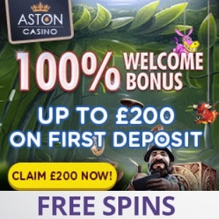 Aston Casino [review] sign up for: 100% bonus and 200 free spins