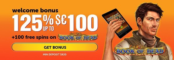 Exclusive Promotions: 125% bonus and 100 free spins