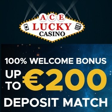 Ace Lucky Casino $€£ 200 bonus and 100 free spins - online & mobile