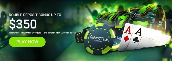 Register at Gaming Club Casino for a 250% welcome bonus and 30 free spins!