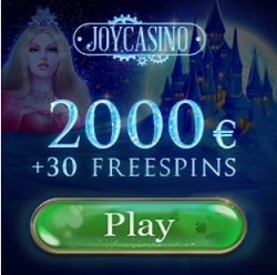 Joy Casino 30 free spins and $2000 welcome bonus
