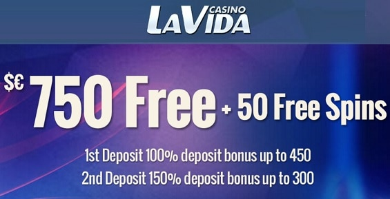 50 free spins and 250% up to €/$750 bonus