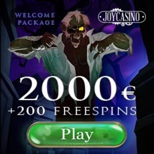 Joy Casino 200 free spins and $2000 free bonus