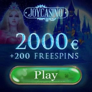 Joy Casino 200 free spins and 425% bonus up to €4000