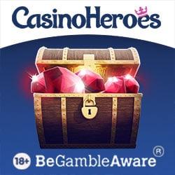Casino Heroes (UK licensed) £400 bonus + 200 spins or 600 extra spins