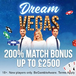 Dream Vegas Casino 120 free spins and £7000 bonus - the best in UK