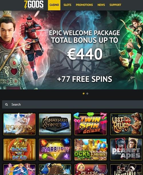 7 Gods Casino Online Review