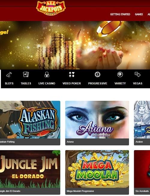 All Jackpots Casino Free Spins Bonus