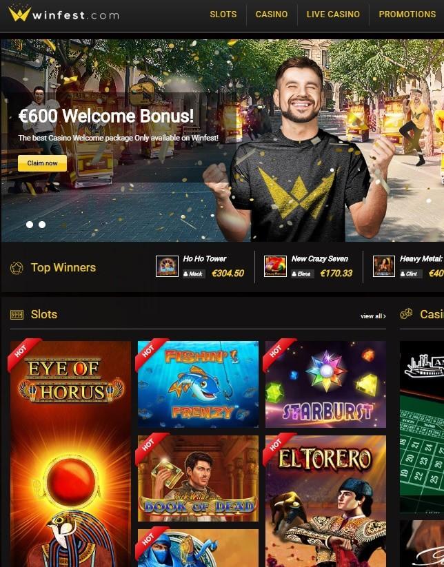 Winfest Casino free spins bonus