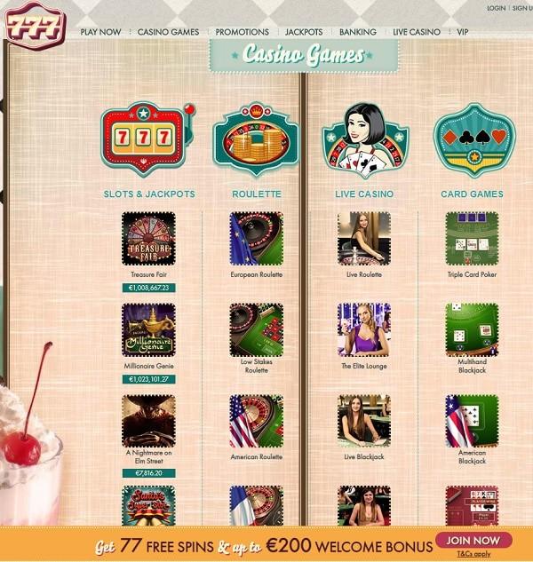 777.com Casino Review
