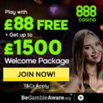 888Casino $88 FREE (no deposit) + $1500 welcome bonus