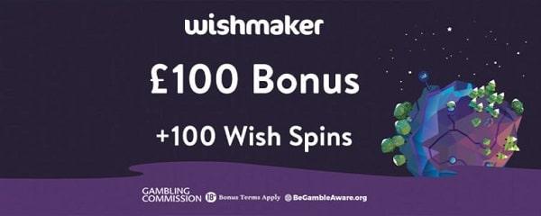 Wishmaker 100 free spins