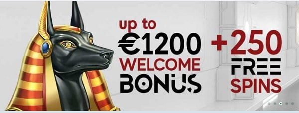 GoPro Casino 1200 EUR and 250 free spins