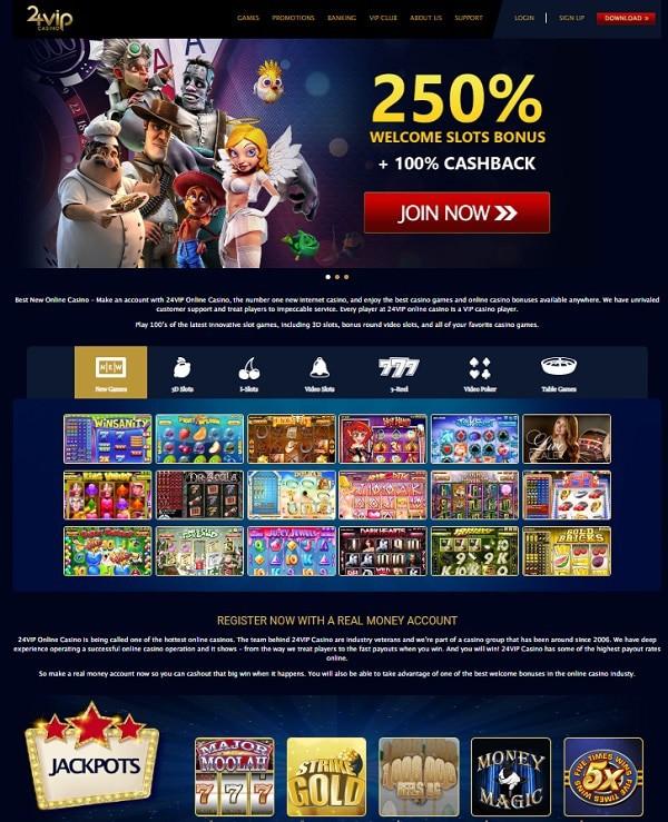 24VIP Casino exclusive bonus, promotions, free games!