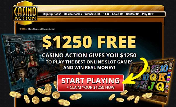 Get $1250 free play bonus!