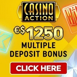 Get $1250 free spins welcome bonus to Casino Action!