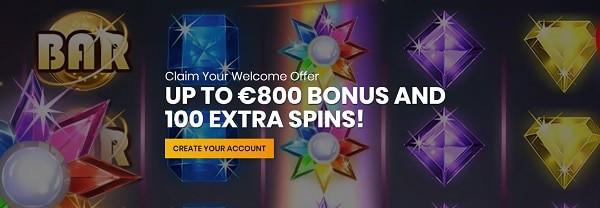 CASIPLAY 100 gratis spins welcome bonus