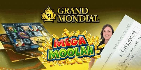 Mega Moolah Winner at Grand Mondial Online Casino