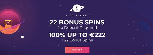Slot Planet Casino 22 free spins no deposit required - register and play to win!