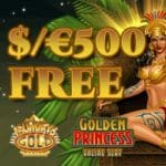 Mummys Gold Casino $500 bonus & 30 free spins on 1st deposit