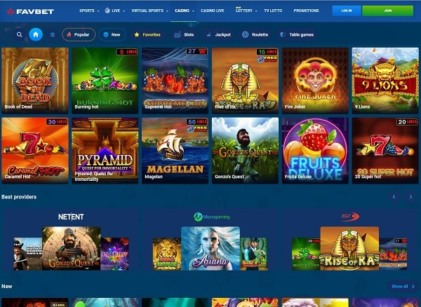 Review of FavBet Casino and Sports