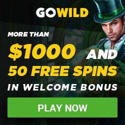 GOWILD Casino (GoWild.com) 50 exclusive free spins bonus