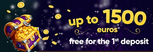 100% up to 1500 EUR+200 free spins / 1st deposit