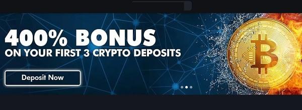 400% bonus on bitcoin deposit