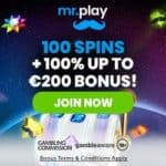 Mr Play Casino [mrplay.com] 100 free spins welcome bonus