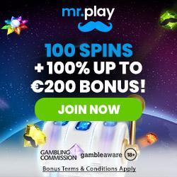 Mr Play Casino [mrplay.com] 100 free spins welcome bonus