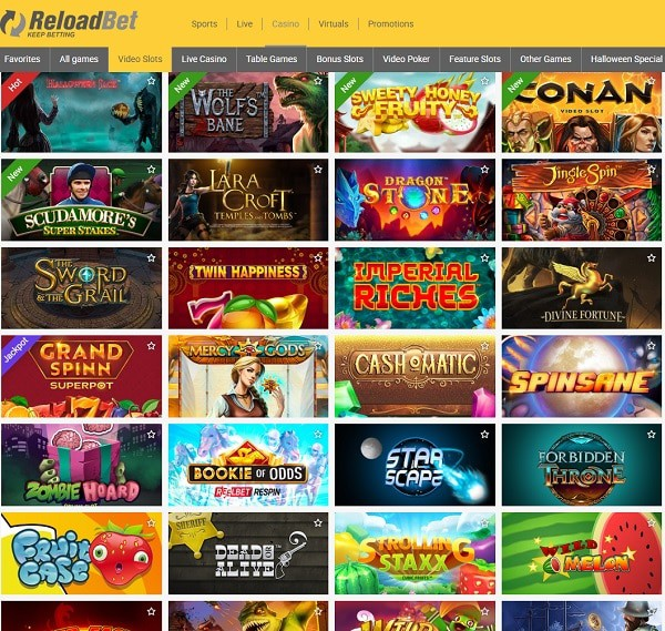 Reload Bet Free Spins