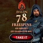 Avalon78 Casino 78 free spins, bonus codes, exclusive promotions