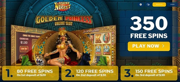 Exclusive Welcome Bonus - 50 free spins on Golden Princess slot game