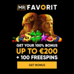 MrFavorit Casino - 100 free spins on any slot, no deposit bonus!