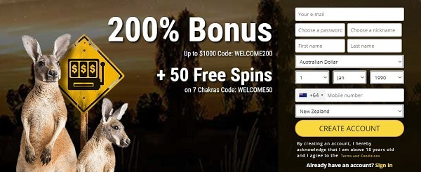Grand Rush 50 free spins