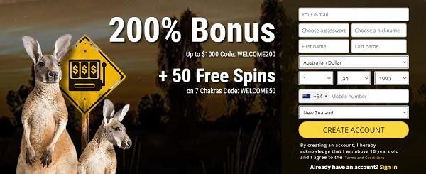 Grand Rush 50 free spins