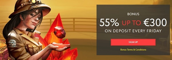 55% up to 300 EUR