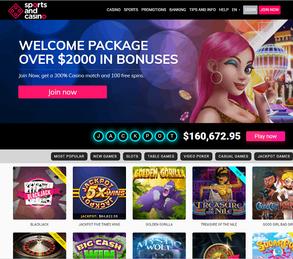 SportsAndCasino.com Online Casino and Sportsbook