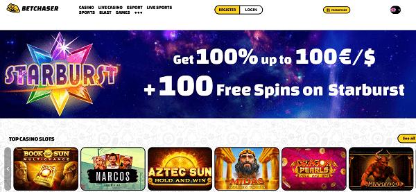 100 FS + 100% bonus