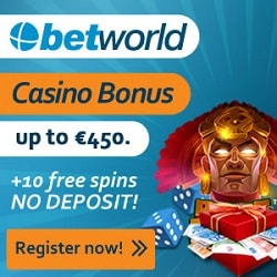 Betworld Casino banner 10 FS 250x250