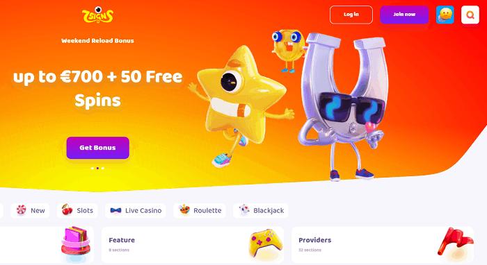 50 free spins and 700 EUR reload bonus