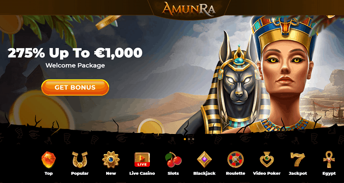 275% Welcome Bonus and 100 Free Spins Extra