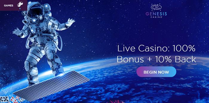 Live Casino Bonus and Cashback